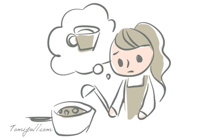 鍋に料理が入っているとお茶が飲めない